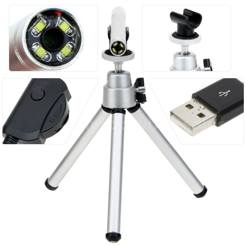 200x usb 4 led hd digital mikroskop endoskop kamera mit. Black Bedroom Furniture Sets. Home Design Ideas