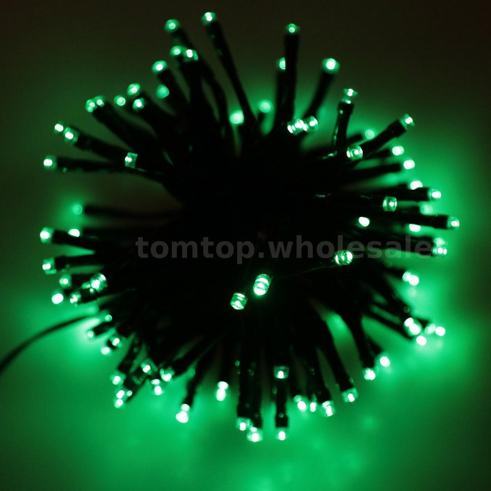 solar 200 led lichterkette weihnachten hochzeit baum dekoration licht 8 farbe ebay. Black Bedroom Furniture Sets. Home Design Ideas