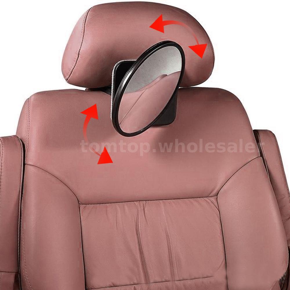 large adjustable baby safety mirror car back seat headrest wide view mirror s9w2 ebay. Black Bedroom Furniture Sets. Home Design Ideas