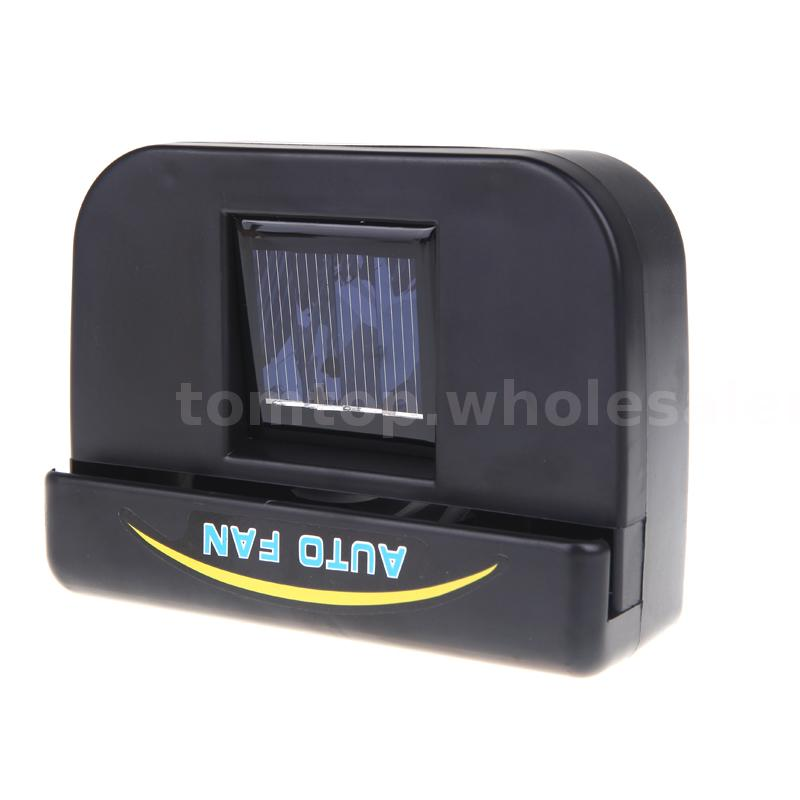 new solar powered car auto air vent cool cooler fan with rubber stripping ebay. Black Bedroom Furniture Sets. Home Design Ideas