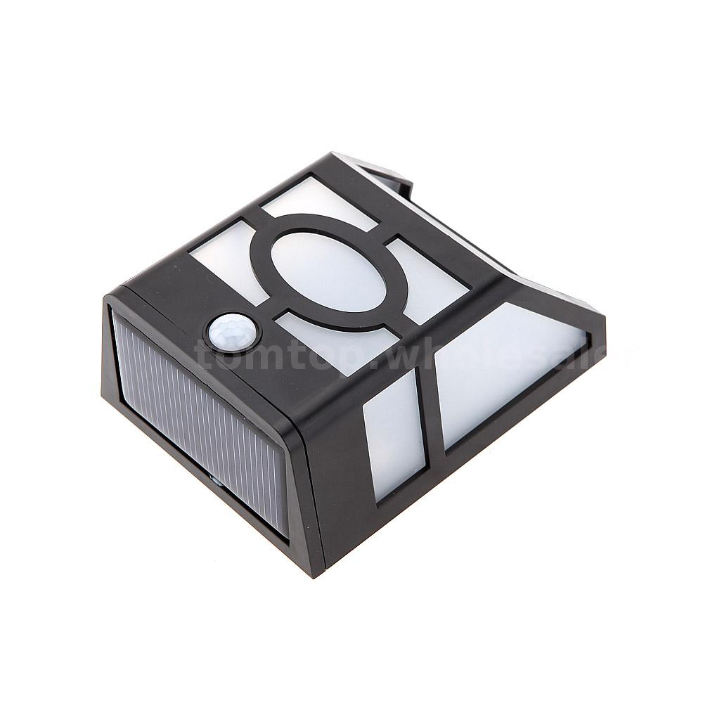 Wall Mounted Rechargeable Light : Solar Panel PIR Motion & Light Sensor Rechargeable Mounted 10 LEDs Wall Light eBay